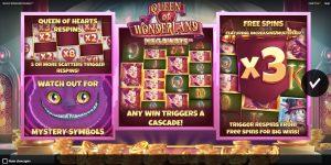 Queen of Wonderland Megaways Intro Screen